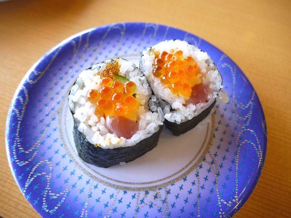 函館の人気回転寿司-函太郎ロール