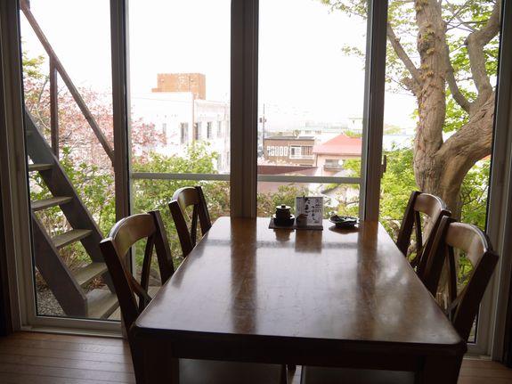 函館レトロカフェ茶房菊泉から眺める景色
