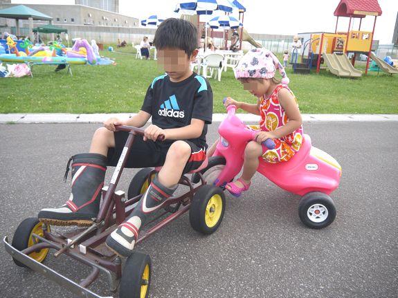 函館競輪場の子供用三輪車