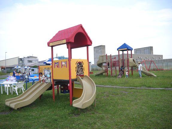 函館競輪場の遊具